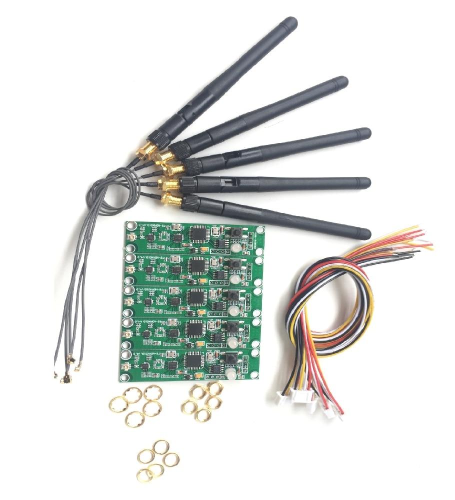 Беспроводной DMX 512 2 в 1 передатчик и приемник, модуль PCB, плата с антенной, светодиодный контроллер, Wi-Fi приемник, 5 шт.