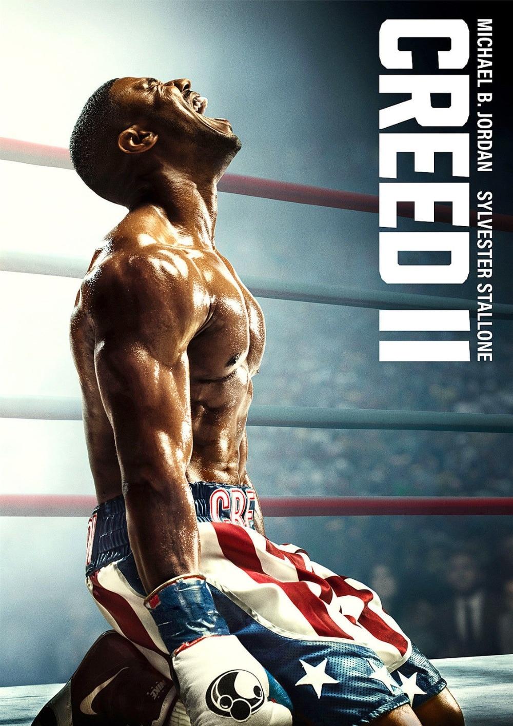 Creed 2 póster, Creed II Rocky, nueva película 2018, Jordan SILK Poster 24x36 pulgadas