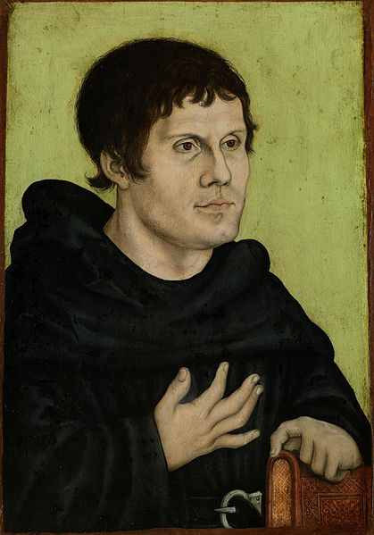 Retrato de Martin Luther como monje de San Patricio de la Iglesia Católica Buen arte # impresión artística sobre lienzo