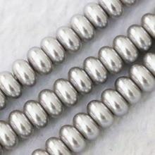 Imitación multicolor blanco plateado-gris 4x6mm 5x8mm rondelle perla encantos de perlas sueltas joyería de gemas haciendo 15 pulgadas B1078