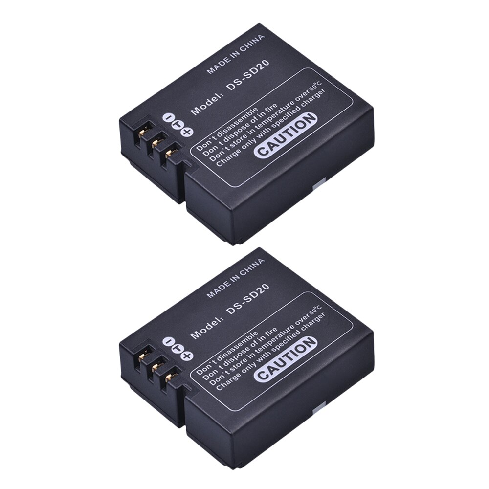 2 шт. DS-SD20 SD20 DS SD20 батареи для AEE Magicam SD18 SD19 SD20 SD21 SD22 SD23 SD30 Rollei 3 S экшн-спортивные камеры