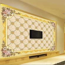 beibehang Custom 3d European Golden Pastoral TV Background Wall paper Living Room Guest House Decorative Painting 3d wallpaper