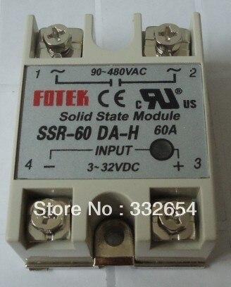 Relé de Estado Sólido Monofásico SSR-60DA-H