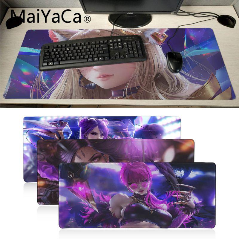 Maiyaca Liga de Leyendas chica virtual Banda K DA KaiSa2 almohadilla de ratón de anime gamer juegos almohadilla de ratón de velocidad versión CS Dota2 LOL