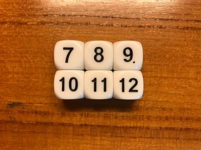 5 pièces/lot jeu de société accessoire de jeu 16mm D6 dés Six côtés dés blanc 7 8 9 10 11 12 numéros pour drôle fête Club Pub