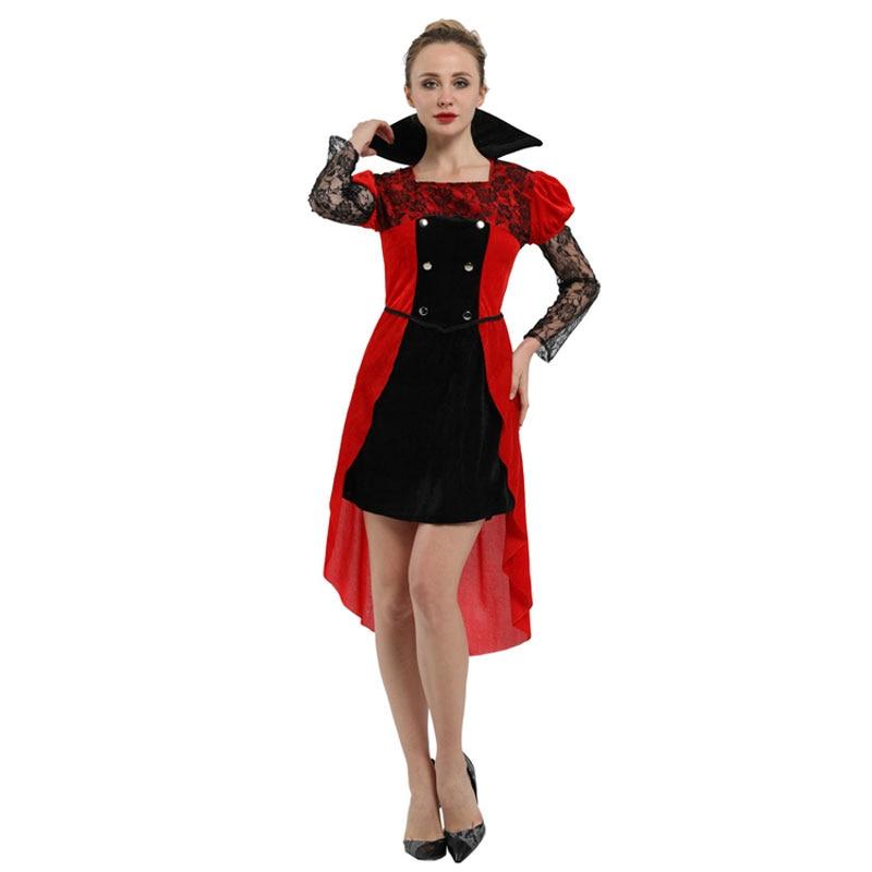 Adult Women's Gothic Maiden Vampire Vampira Costume Halloween Carnival Mardi Gras Party Fancy Dress