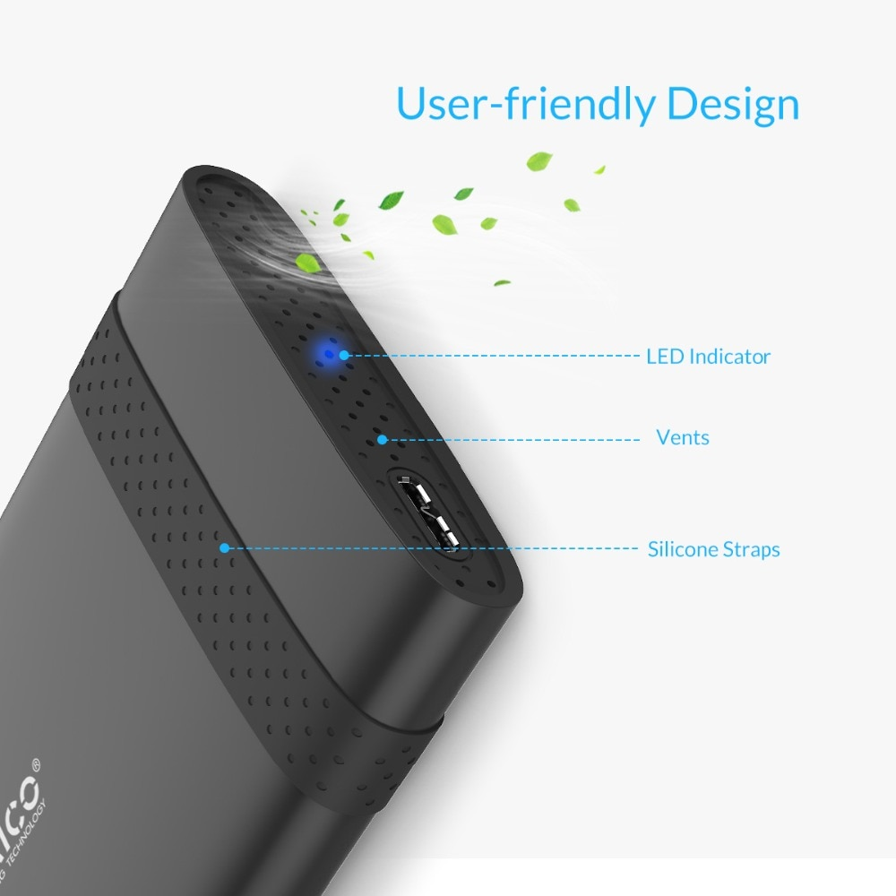 ORICO 2.5 inch USB3.0 Hard Disk Case HDD Enclosure For Notebook 2TB HDD Tool Free 5Gbps HDD Enclosure enlarge