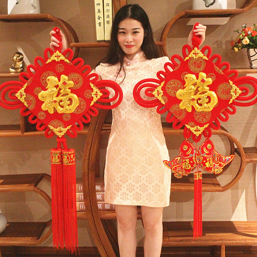 Colgante con nudos chinos mis bonitas auspicioso afortunado felicidad borla nudo chino colgando en la azotea de la boda decoración de la habitación