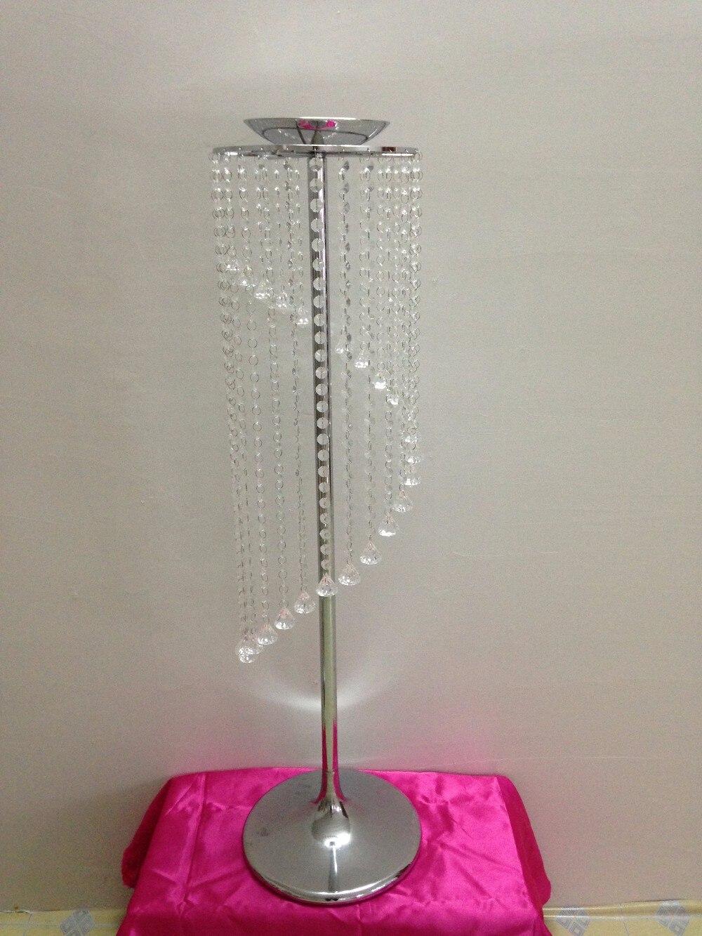 69cm de alto florero de boda MESA DE PLATA soporte para centro de mesa de boda 10 unids/lote