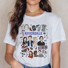 Riverdale southside T Shirt kobiety 90s South Side węże t-shirt w stylu vintage Harajuku Ullzang Tshirt nadruk węża koszulki kobiet