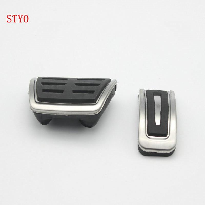 STYO edelstahl Auto Kupplung Gas Bremse pedale Abdeckung für Polo Bora Lavida Golf MK4 Santana Jetta MK4/Fabia