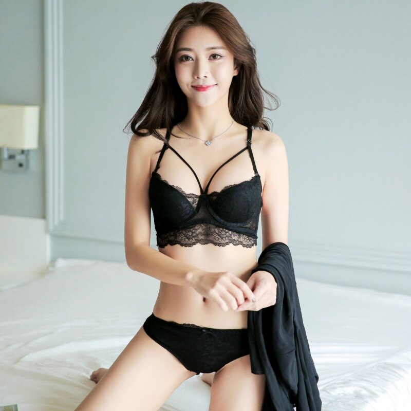 Plus Size Women Underwear Bra Sexy Women Bra Set Push Up Panties And Panties Cup Female Intimates Brief Set