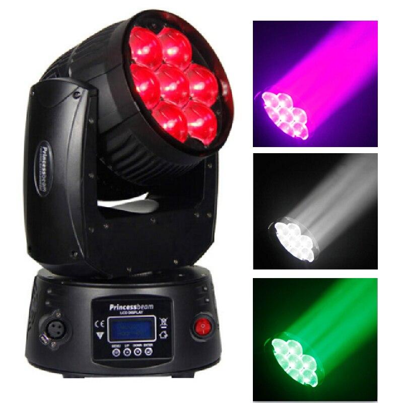 Bright 7x12W Zoom Home Disko Light Led DJ RGBW Led DMX Mini Moving Head Wash Beam Stage Disco Rotating Led Effekt Music Lighting