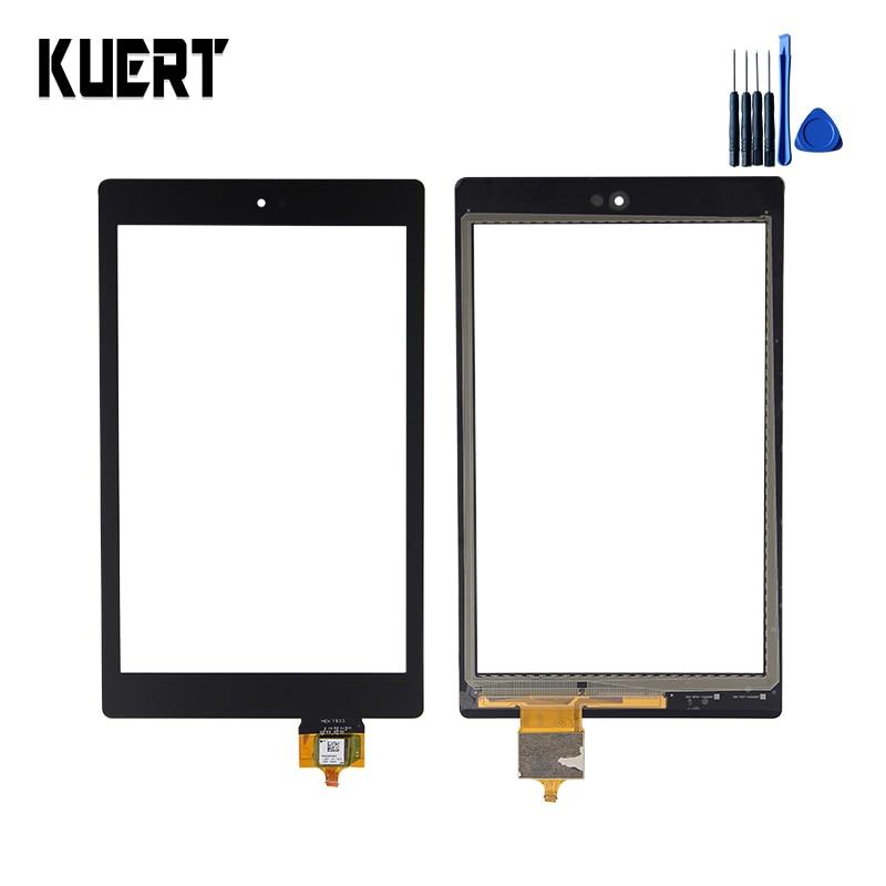 Cristal digitalizador Pantalla de panel táctil para tableta para Amazon Kindle Fire HD 8 6th HD8, accesorios de repuesto para pantalla táctil, piezas + herramientas