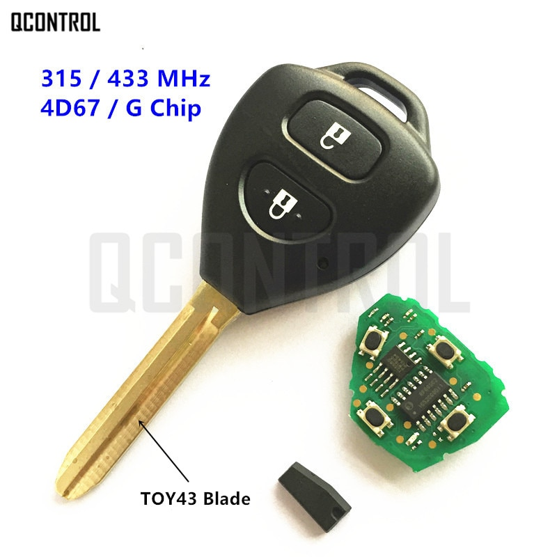 Llave remota QCONTROL para Toyota Camry Corolla Prado RAV4 Vios Hilux Auto Yaris 315MHz/433MHz G/4D67 Chip