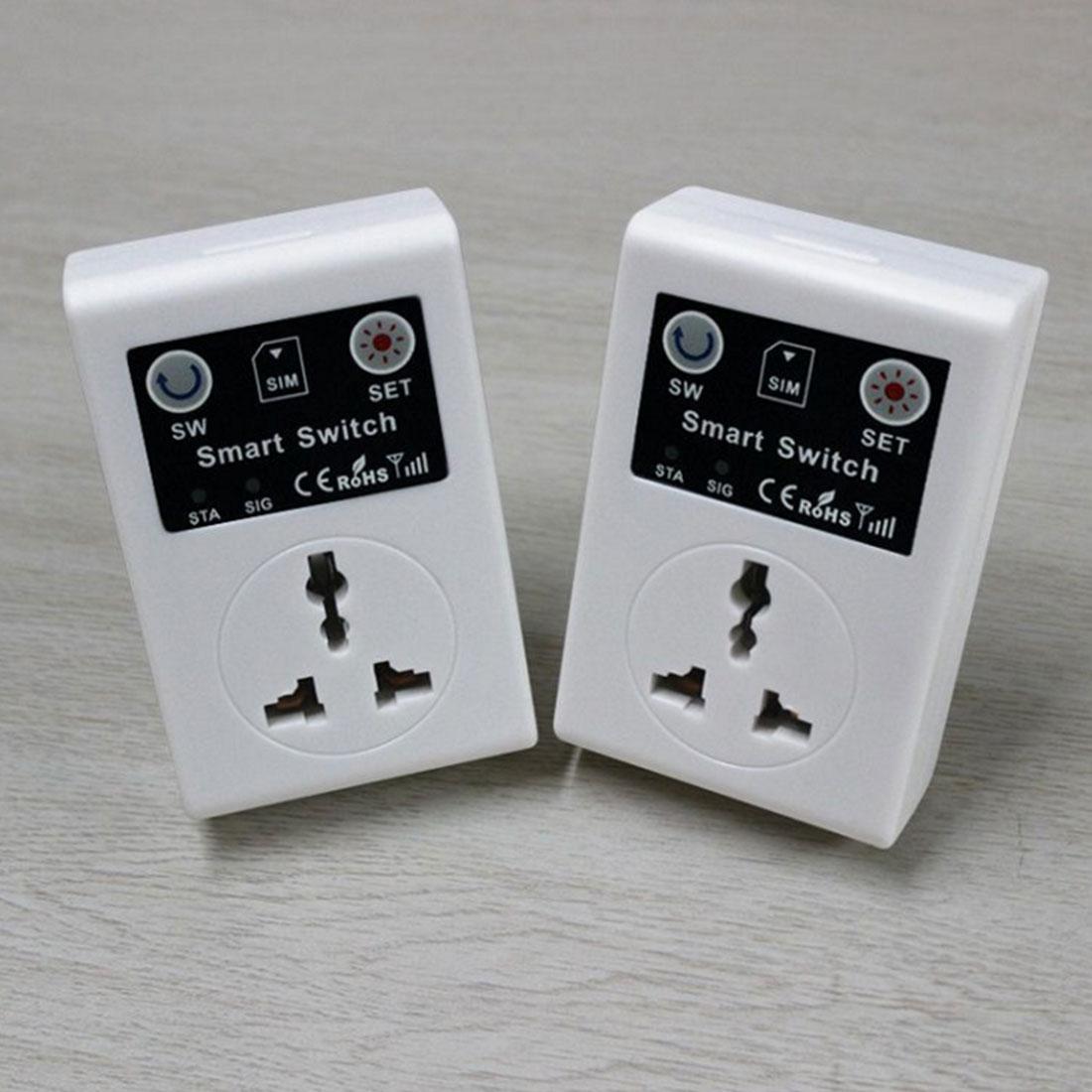 Nuevo alta calidad 220V teléfono RC Control remoto inalámbrico enchufe GSM interruptor inteligente alimentación UE Reino Unido enchufe para electrodomésticos