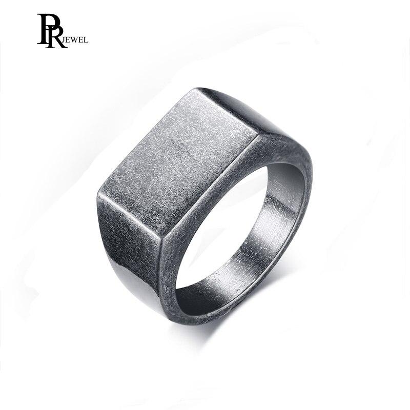 Оксид Siver перстень кольцо для мужчин ювелирные изделия Золото Черный Нержавеющая сталь металл не выцветает