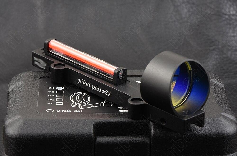 רובי ציד קל משקל אדום סיבי אופטיקה 1x Red dot sight fit צלעות רכבת ציד ירי M1270