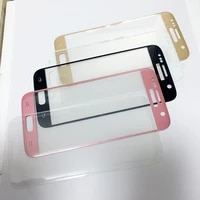 Penuh Layar Kaca untuk Samsung Galaxy S7 S7edge S8 Pelindung Layar S6 Edge Plus Tempered Glass Pink Biru Perak Emas jelas B W