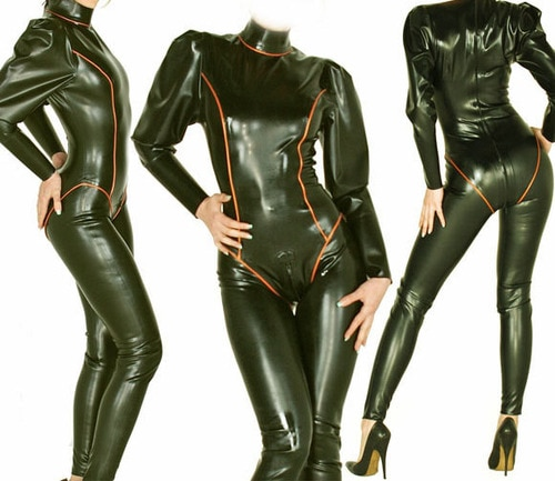 Nuevo 100% de goma de látex Ganzanzug Bodysuit Queen Tights Catsuit Size XXS-XXL