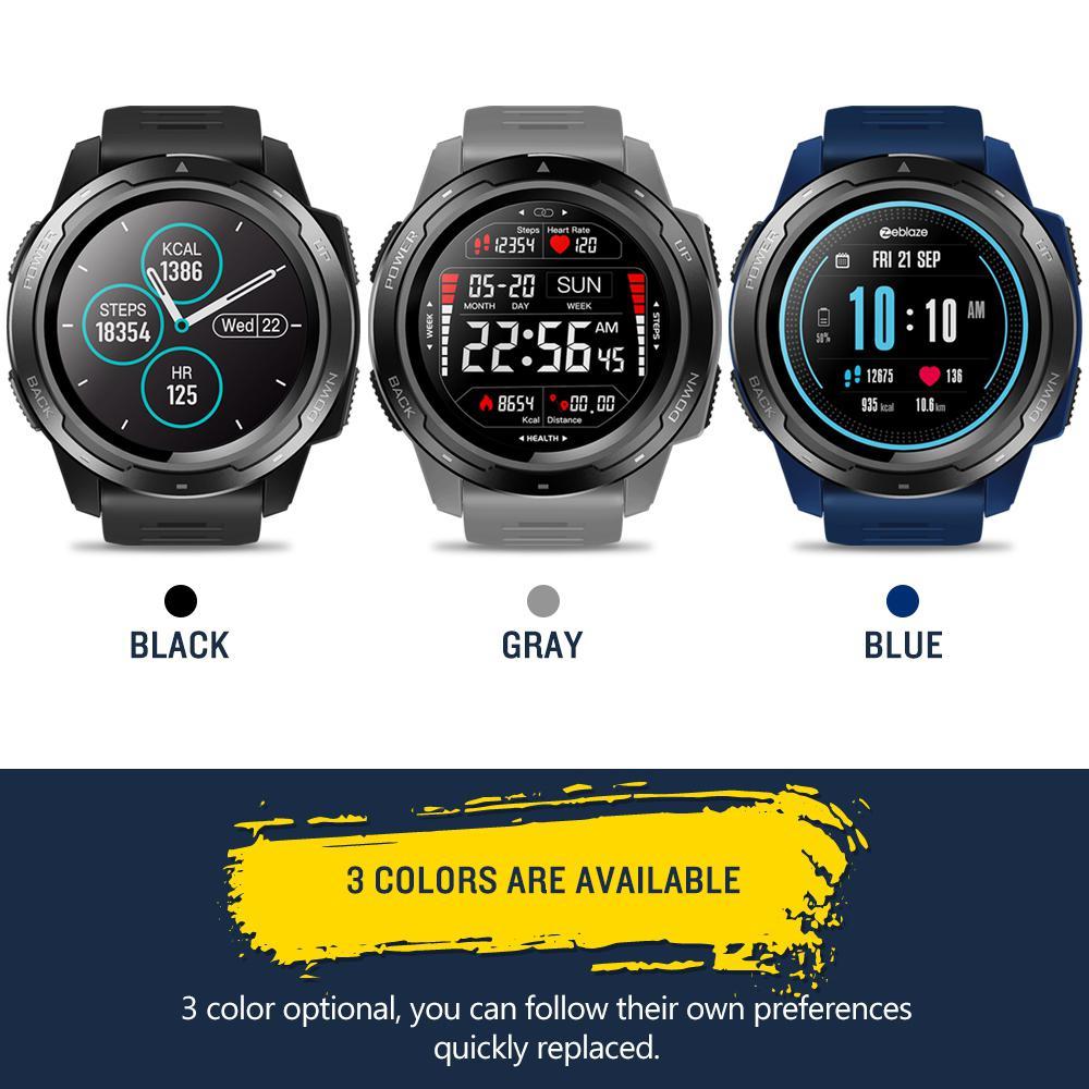 HobbyLane Zeblaze VIBE 5 1,3 pulgadas ronda pantalla Monitor de ritmo cardíaco durante el sueño inteligente reloj pulsera Deporte Fitness Tracker d20