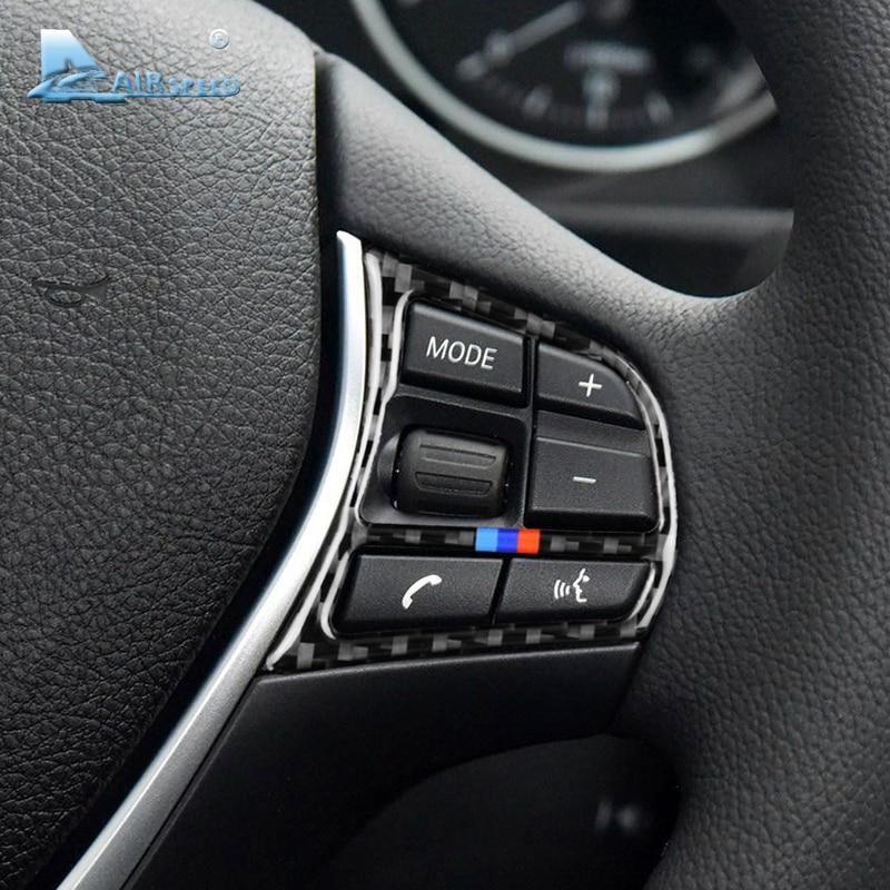 Airspeed для BMW F20 F21 F30 F34 F32 аксессуары для салона автомобиля из углеродного волокна кнопки для руля наклейки накладка украшение