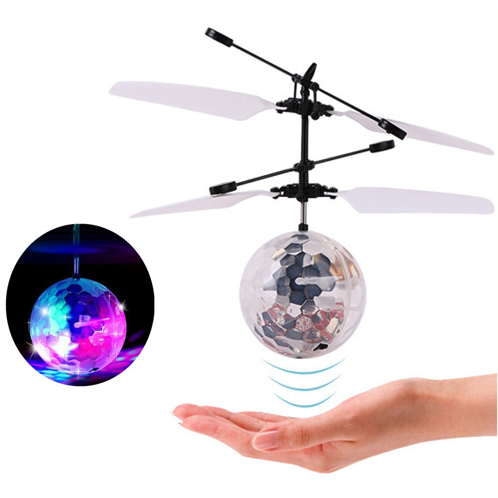 RC Flying Ball Drone Helicopter Ball Built-in Shinning LED Lighting for Kids Toy Colorful Flying Bal