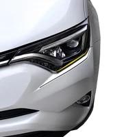 2pcs for toyota rav4 2016 2017 2018 car styling exterior accessories headlight trim lamp eyebrow headlight cover trim moulding