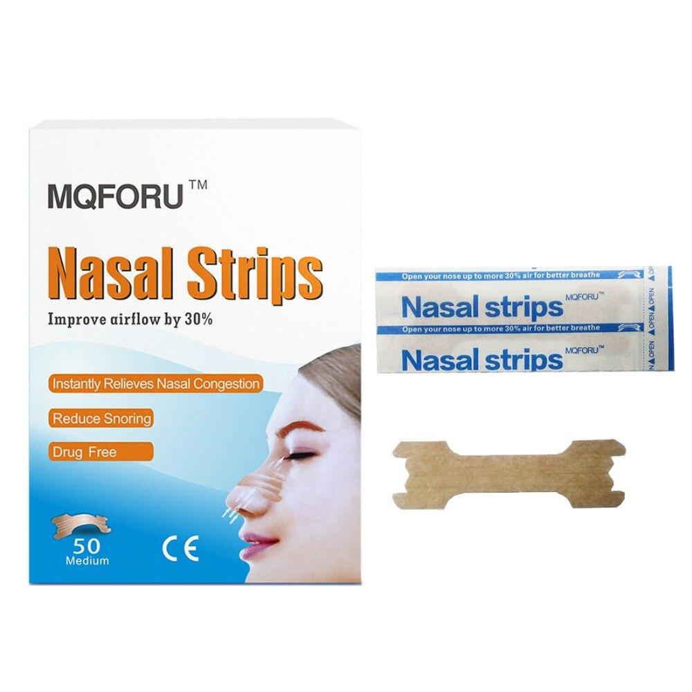 50 pçs/caixa tiras nasais anti ronco melhor respirar para adultos abrir as válvulas nasais melhorar o sono reduzir dispositivo de ajuda a ressonar