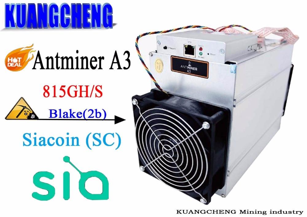 KUANGCHENG Mining BITMAIN Antminer A3 815G (Blake2b algorithm) Asic dedicated mining machine