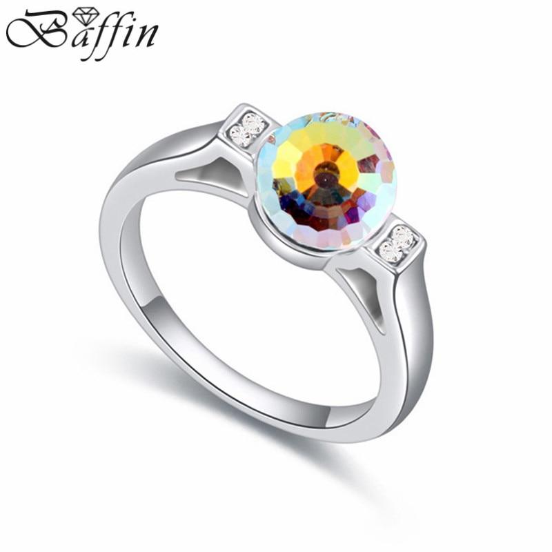 Alta calidad 100% cristales originales de Swarovski anillos joyería de moda anillos de boda para las mujeres al por mayor