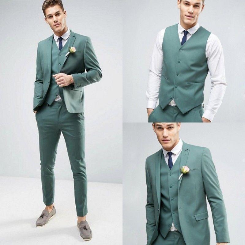 Juego de 3 piezas para hombre, traje Formal, esmoquin, esmoquin a medida, traje de boda C315