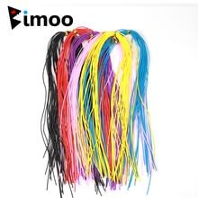Bimoo, 1 paquete, 1mm, redondo, de silicona, cuerda de goma, atado de moscas, piernas, plantilla de pesca, señuelo, faldas, Material