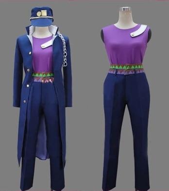 JoJo es extraño aventura Cosplay Kujo Jotaro Cosplay Anime Cosplay trajes Marina uniformes disfraces de halloween