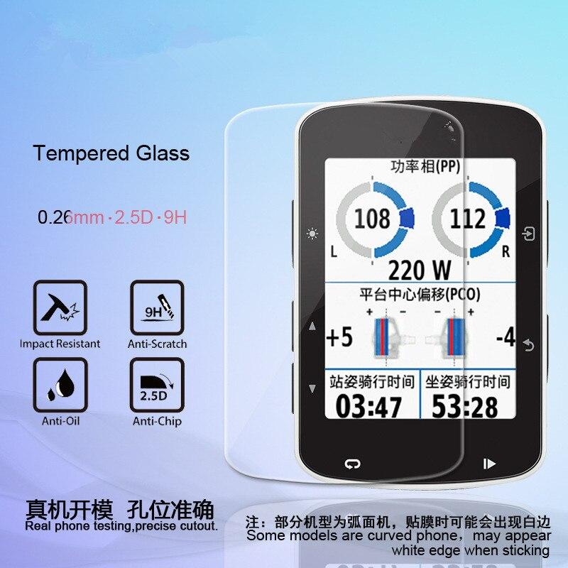 2 шт Премиум Закаленное стекло протектор экрана для Garmin Edge 1000/820/810/1030/510/520/530/830/130/520 plus защитная пленка