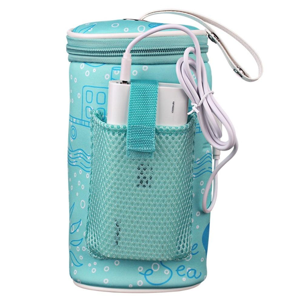Nuevo calentador de biberones usb para leche, calentador para coche, alimentación de alimentos, aislamiento térmico, bolsa de accesorio para carrito de bebé