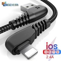 TIEGEM 90 usb-кабель для iPhone X 8 7 6 5 6s plus Кабель для быстрой зарядки кабель мобильного телефона зарядное устройство Usb кабель для передачи данных ...