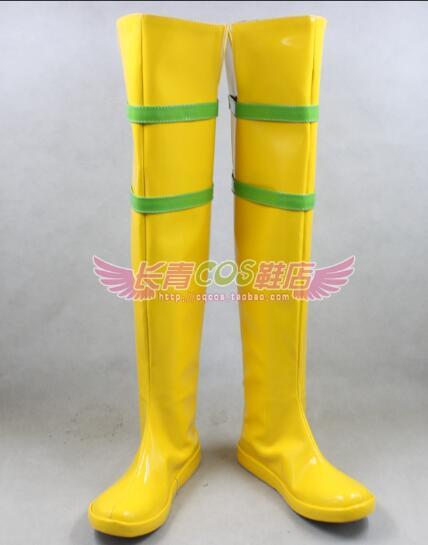 Película x-men nuevo Rogue Anna Marie Gamit botas amarillas Cosplay fiesta zapatos hechos a medida