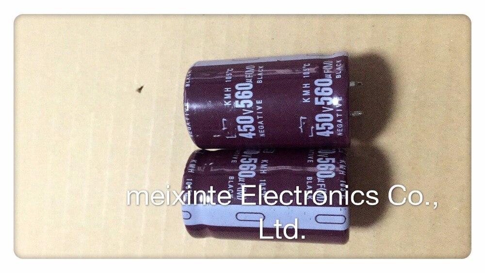 2-10 unids/lote 450V560UF 35X50 condensador de filtro de fuente de alimentación del condensador electrolítico para soldadora de inversor