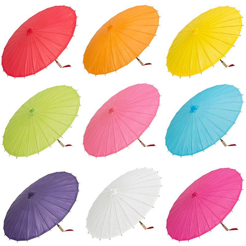 Gran oferta 40 cm hecho a mano de papel de color paraguas tradicional China, pintura para niños DIY paraguas de papel decorativo de artes y oficios