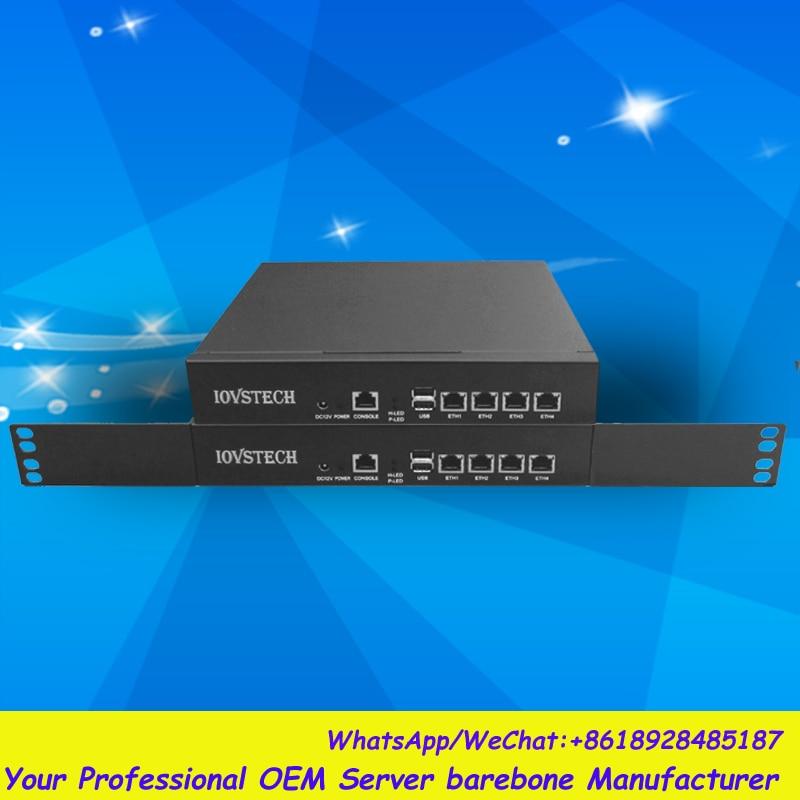 High Cost-effective 4Gbe LANs desktop/ mini 1U rack router / firewall barebone