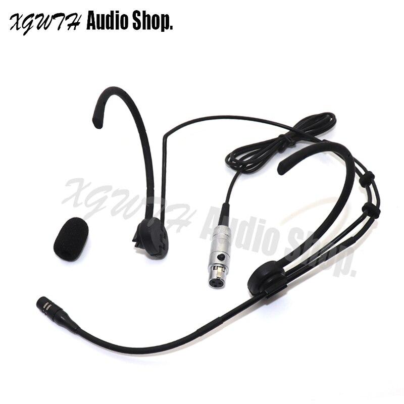 Micrófono de cabeza de Gancho Doble negro para AKG transmisor inalámbrico de sistema de Radio Mic Beltpack plegable orejas Mini XLR 3Pin TA3F