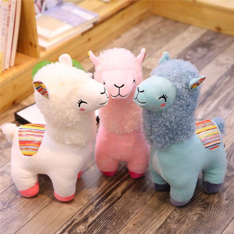 Precioso 25/35cm Alpaca Llama de peluche de juguete Animal de peluche muñecas de Alpaca suave de peluche para niños regalos de cumpleaños 4 colores