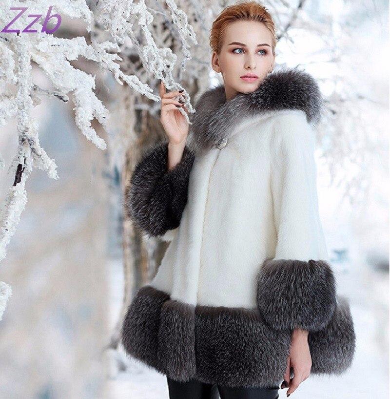 Специальное предложение 2018 новое импортное Европейское модное зимнее женское пальто из искусственного меха норки роскошное высококачеств...
