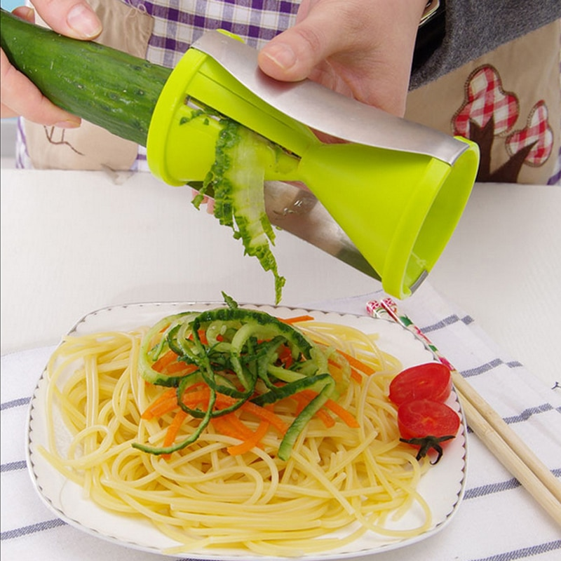 Cortador en espiral de verduras cortador 2 en 1 máquina de Pasta de fideos para un dispositivo de herramientas de cocina saludable Spaghetti Zoodles