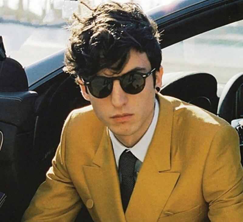 Маленькие стильные круглые солнцезащитные очки для мужчин и женщин, роскошные брендовые дизайнерские женские винтажные овальные черные со...