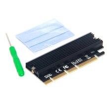 Adaptateur M.2 NVME releveur PCIE vers M2 PCI Express GEN3 Compatible haute vitesse PCIE X16 X8 X4 Slot indicateur LED pour SSD 2230-2280 M2