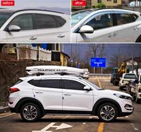 ABS Chrome plastic Window Visor Vent Shades Sun Rain Guard car accessories for Hyundai TUCSUN 2015-2017 2018 2019 car styling