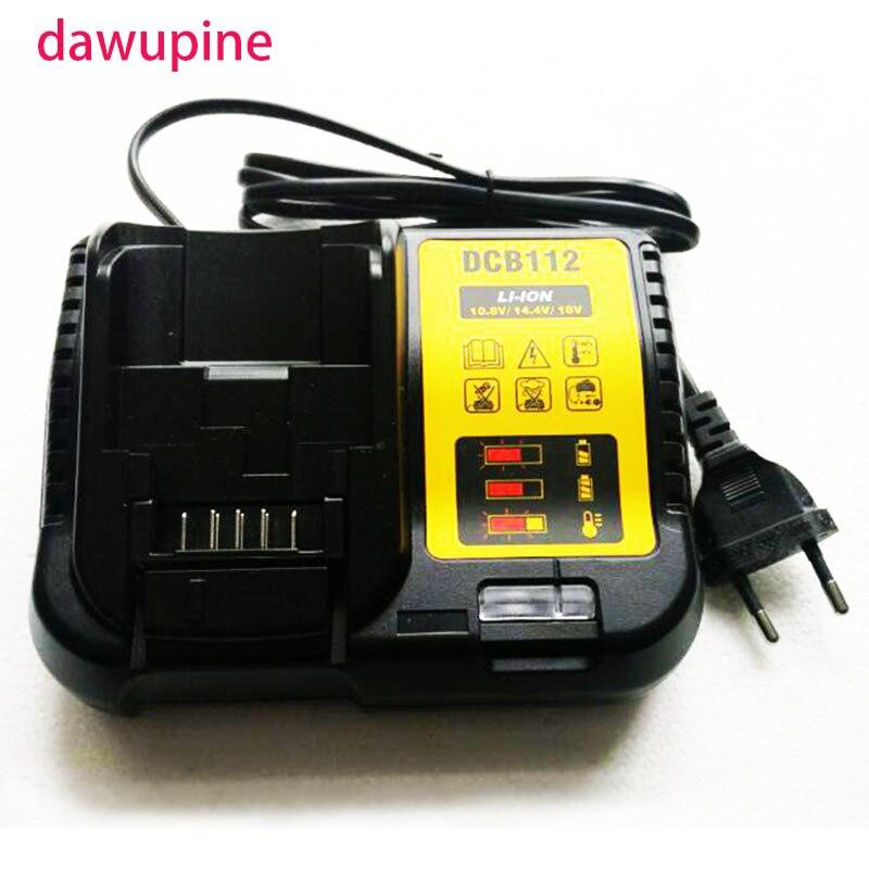 Dawupine DCB112 ליתיום סוללה מטען עבור DeWalt 10.8V 12V 14.4V 18V DCB101 DCB200 DCB140 DCB105 DCB200