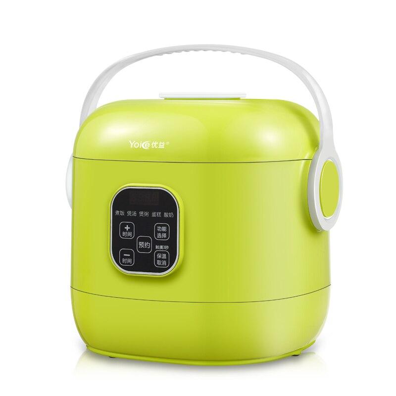 Yoice portátil Mini Multi Auto arrocera 2L para 1-4 personas sopa gachas tarta yogur máquina